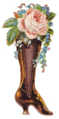 ི♥ྀ victorian Boot with flowers