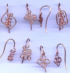 Copper Adinkra Ear Wires--I really like the look of these--even though I'd probably never make or use them.
