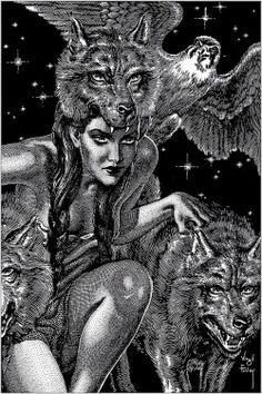 """""""Virgil Finlay es ampliamente considerado como uno de los mejores ilustradores del mundo de la ciencia ficción y la fantasía. Nacido el 23 de julio 1914, en Rochester, Nueva York,"""