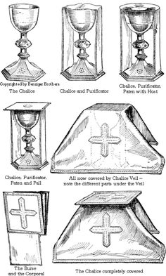 I always wondered what the items were called after Eucharistic Communion. Catholic Religious Education, Catholic Altar, Catholic Mass, Catholic Prayers, Roman Catholic, Catholic Sacraments, Catholic Catechism, Religion Catolica, Catholic Religion