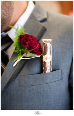 Burgundy Carnation Boutonniere! #DIY www.JayeKogutPhotography.com @Jaye Kogut