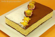 Gâteau choco-coco à la mousse passion