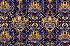 2 Paisley Seamless Patterns by Sunny_Lion on Creative Market