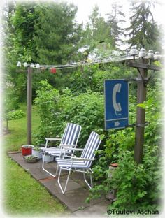 This is one of my favourite garden ideas! Hang your laundry here!