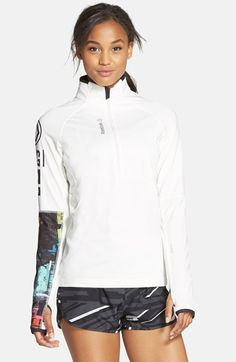 Reebok 'One Series - Winter' Zip Pullover Top available at #Nordstrom