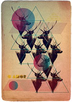 #deer #triangledesign #geometricdesign