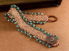 Rosy Memories Bracelet-peyote for beginners class Beads Jewelry, Jewelry Crafts, Jewelry Accessories, Jewelry Design, Bead Earrings, Seed Bead Patterns, Jewelry Patterns, Bracelet Patterns, Bead Loom Bracelets