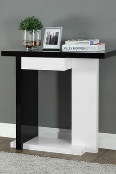 Lachlan Glossy Black Sofa Table by I Love Living Black sofa