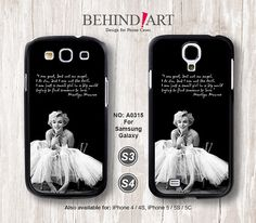 """""""I am good, but not an angel. I do sin, but I am not the devil. I am just a girl living in a big world trying to find somebody to love."""" -Marilyn Monroe on a s3 case"""