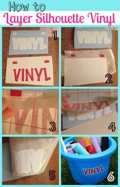 6 steps to perfection! Silhouette Layering Vinyl Tutorial (The No-Fail Method) Silhouette Cutter, Silhouette Curio, Silhouette Vinyl, Silhouette Machine, Silhouette Design, Silhouette Files, Silhouette America, Silhouette Cameo Shirt, Silouette Cameo Projects