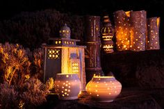 Autumn Lanterns home flowers autumn fall candle lantern fall decorating