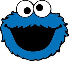 Cookies Monster Monstruo Come Galletas Ideas Sesame Street Cookies, Sesame Street Party, Sesame Street Birthday, Big Bird Sesame Street, Sesame Street Signs, Monster 1st Birthdays, First Birthdays, Elmo Birthday, 1st Birthday Parties