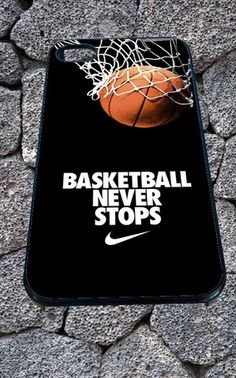 Nike-Basketball-Never-Stop for iPhone 4/4s, iPhone 5/5S/5C/6, Samsung S3/S4/S5 Unique Case *99* - PHONECASELOVE
