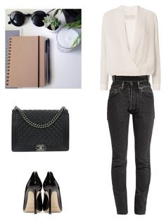 """""""Senza titolo #74"""" by annadallolio ❤ liked on Polyvore featuring Michelle Mason, Vetements, Jimmy Choo and Chanel"""