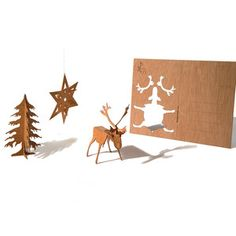 Xmas 3D Postcards 3 Pack,
