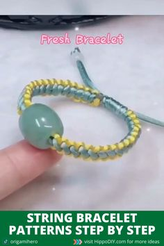 String Bracelet Patterns, Diy Bracelets Patterns, Diy Bracelets With String, Diy Bracelets Easy, Bracelet Crafts, Handmade Bracelets, Rope Bracelets, Friend Bracelets, Diy Bracelets Step By Step
