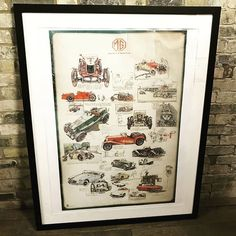 MG Vintage Poster at D and A Binder | We have stunning vintage posters at Binder's! If you're a fan of motors and need a decorative piece why not check out DandABinder.co.uk to add a little vintage to your home business or project? We have a range of antiques from seating to haberdashery cabinets to shelving units and small display boxes - email us at david@dandabinder.co.uk for more information or check out DandABinder.co.uk for more details.  #shopdisplay #windowdisplay #interiordesign…