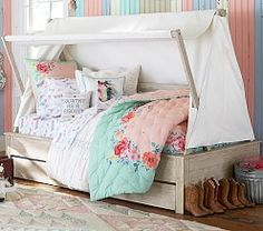 Pottery Barn Kids offers kids & baby furniture, bedding and toys designed to delight and inspire. Junk Gypsy Bedroom, Cowgirl Bedroom, Bedroom Wall Colors, Bedroom Decor, Bedroom Ideas, Girl Room, Girls Bedroom, Dream Bedroom, Kids Mattress
