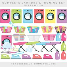 Laundry clipart  laundry clip art washing by WinchesterLambourne
