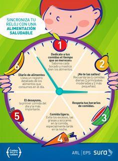 Sincroniza tu reloj con una alimentación saludable