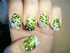 Chetah zebra nails! :)