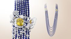 Van Cleef and Arpels: Zodiac Set Gemini long necklace and detachable clip