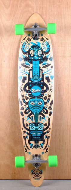 "Stella Prebuilt 46"" Pintail Totem Longboard Complete"