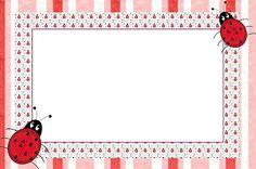 Joaninha – Kit Completo com molduras para convites, rótulos para guloseimas, lembrancinhas e imagens! |Fazendo a Nossa Festa