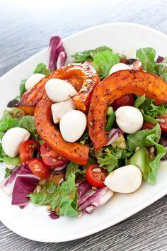 Cucinare con amore: Salát s pečenou dýní a mozzarellou