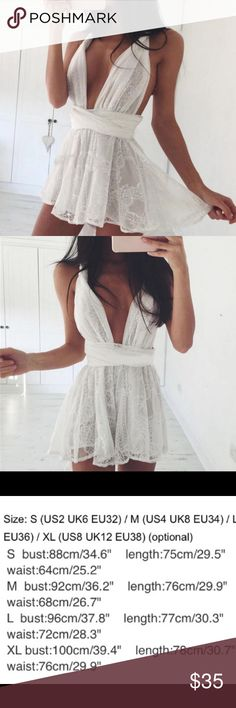 ✨Coming Soon!✨ Brand new white lace playsuit in a size medium. Will post pictures once item is received. 💗cheaper on merc💗 (Tagged in minimale for exposure) Minimale Animale Other