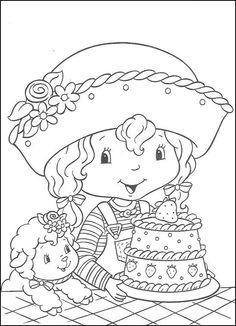 Disegni da colorare per bambini. Colorare e stampa Fragolina Dolcecuore 7