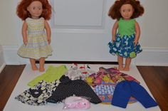 Our Generation Dolls 2 Red Hair Blue Green Eyed with outfits Rabbit Used #OurGeneration