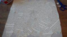 Ik ben bijna klaar met het bekleden van de bovenkant van het examenhoedje. De volgende les ga ik aan de slag met papier maché.