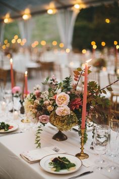 Moody urban wedding table decor: http://www.stylemepretty.com/2015/11/25/moody-indoor-urban-wedding-at-the-foundry/ | Photography: Readyluck - http://www.readyluck.com/