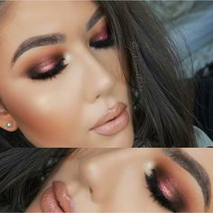 """""""@juliasallure @juliasallure rocking a Rose Gold look using the 35N palette and a MAC pigment we love her glowing complexion and luscious lips!…"""""""