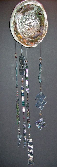 Shell Windchimes With Glass Beads - Bing Images - Wind Chime - Abalone Shell , beautiful