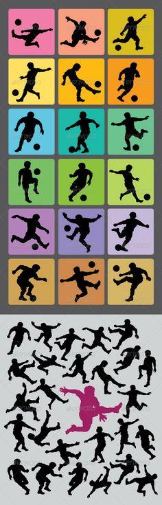 Soccer Boy Silhouettesloss