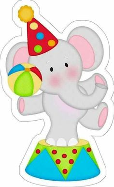 Circus 1st Birthdays, Carnival Birthday Parties, Circus Birthday, Dinosaur Birthday, Clown Party, Circus Theme Party, Circus Baby, Carnival Themes, Cute Clipart