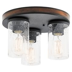 Shop Kichler Lighting Kichler Barrington 11.5-in W Distressed Black and Wood Standard Flush Mount Light at Lowe's Canada. Find our selection of flush mount ceiling lights at the lowest price guaranteed with price match.