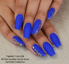 sparkly blue almond nails - Google Search