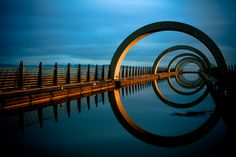 Part of the Falkirk Wheel which joins the forth and clyde canal with the union canal. Scotland. Photo by John Stokes.
