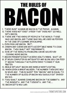 Pigs like bacon. Fact.