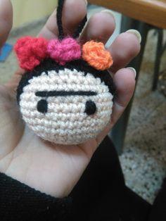 Resultado de imagen para llaveros con frida kahlo en crochet