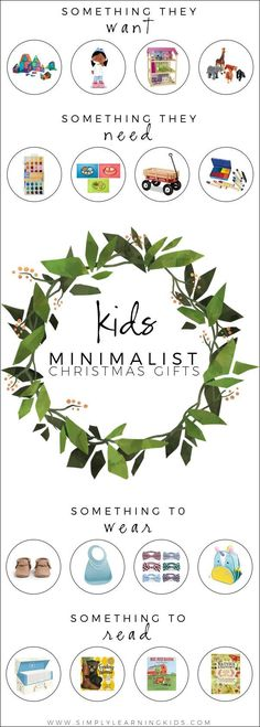 Minimalist Christmas gift ideas and ways to easily implement the 4 Gift Rule!
