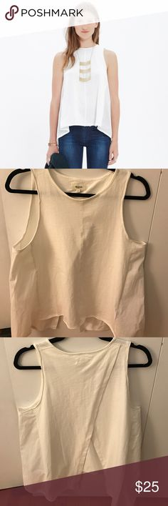 Madewell Flyaway Tank Madewell Flyaway Tank  Swingy and Simple drapery fit Cotton, machine wash Size: Medium Runs big Madewell Tops Tank Tops