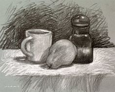 Image detail for -Gil Adams: Still Life in Black and White Graphite