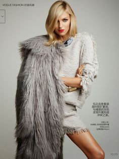 vivid sculptures: anja rubik by patrick demarchelier for vogue china october 2014