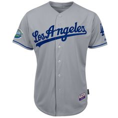 Ikes Baseball Los Angeles Dodgers 2013 Road COOL BASE Authentic MLB Jersey