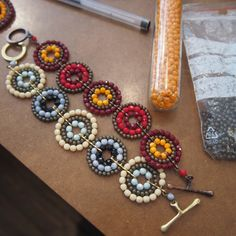 "Making Of . ""Cirlce Line"" Armband Line, Crochet Earrings, How To Make, Jewelry, Fashion, Wristlets, Moda, Jewlery, Fishing Line"