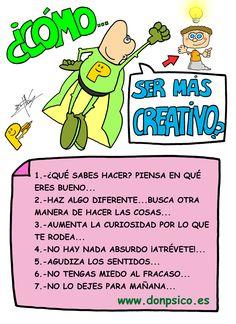 ¿Cómo ser más creativo?